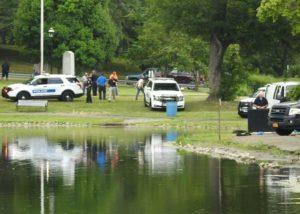 MidHudsonNews.com coverage of man's body in Downing Park pond