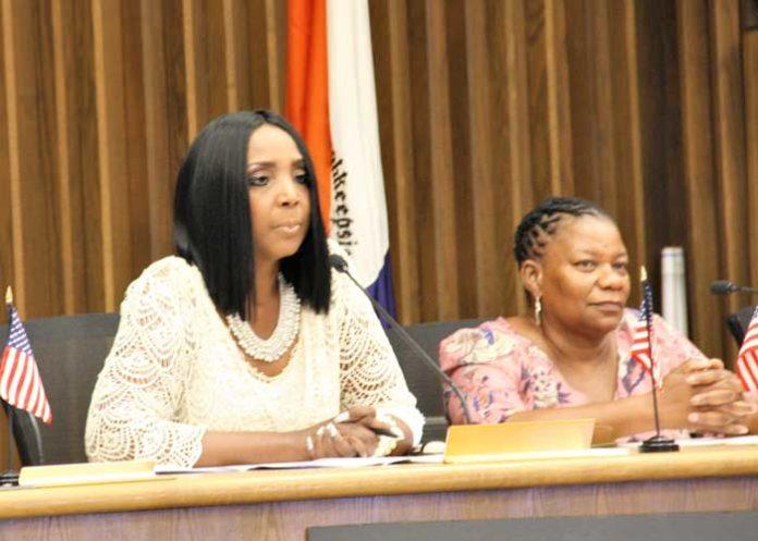 Board President Dr. Felicia Watson and Vice President Barbara Long