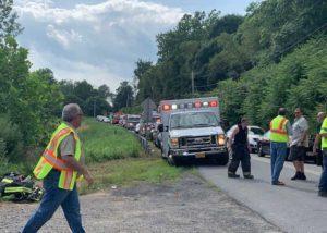 Plane crash near Hudson Valley Regional Airport