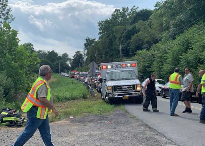 Four injured when small plane crashes on approach to Hudson